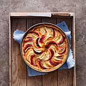 Root vegetable tart with cheese