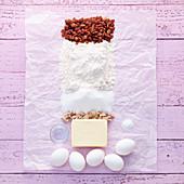 Ingredients for raisin brioche