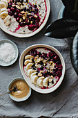 Porridge with Cherries and Banana