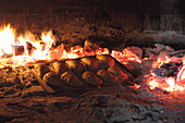 Empanadas in wood fired oven