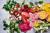 Buntes Gemüsestilleben