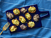 Roast stuffed potato skins