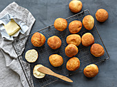 Small rolls with butter