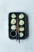 Savoy cabbage sushi