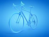 Racing bike, illustration