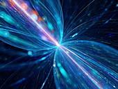 Time travel, fractal illustration