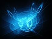 High energy plasma, fractal illustration