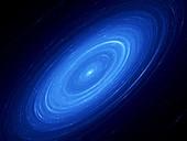 Andromeda galaxy, abstract illustration