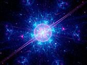Big bang, fractal illustration