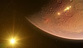 Mars from space, illustration