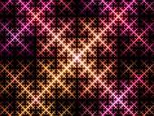 Sierpinski triangle system, fractal illustration
