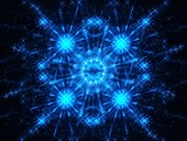 Snowflake, fractal abstract illustration