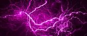 Lightning, abstract illustration