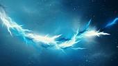 Interstellar lightning, abstract illustration