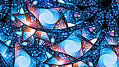 Stained glass fractal illustration