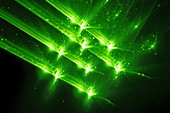 Laser beams, abstract illustration