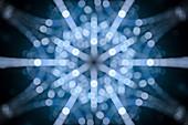Snowflake, abstract illustration
