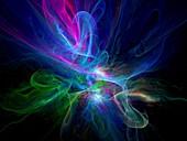 Plasma, abstract illustration