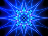 Plasma flower in space, abstract illustration