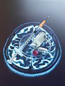 Neurological drug, conceptual image