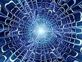 Broken glass, abstract fractal illustration