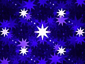 Stars, abstract fractal illustration