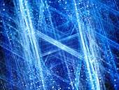 Winter, abstract fractal illustration