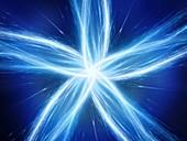 Star, abstract fractal illustration