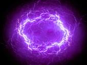 Plasma lightning, abstract illustration