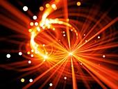 Star explosion, abstract illustration
