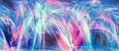 Plasma curves, abstract illustration