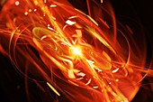 Quantum explosion, abstract illustration