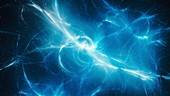 High energy plasma force field, abstract illustration