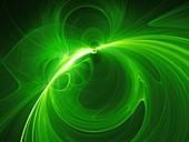 Plasma force field, abstract illustration