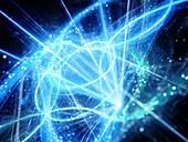 Interstellar trajectories, abstract illustration