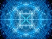 Geometrical elements, abstract fractal illustration