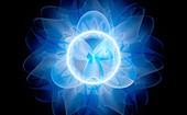 Gamma ray burst, abstract illustration