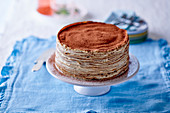 Tiramisu pancake cake