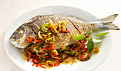 Fried fish with chillies
