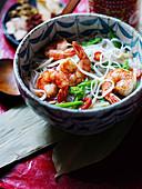 Salt and pepper prawn noodles