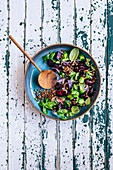 Beetroot Lentil salad with Herbs
