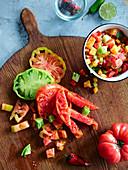 Chopped Heirloom tomatoes