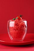 Fresh tomato sorbet