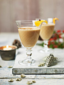 'St Nick's flip' with cognac, muscat wine, egg and double cream
