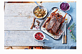 Slow Cooked Gänsebraten mit Cranberry-Salsa
