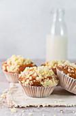 Joghurt-Muffins mit Vanillestreuseln