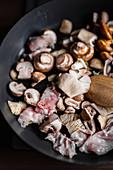 Mushrooms and pancetta