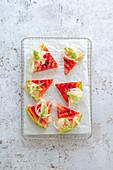 Gegrillte Melone mit Fenchelsalat und Fenchelgrün (Low Carb, Detox, vegan)