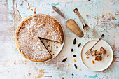 Gluten-free nut cake with tonka beans