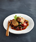 Crispy pork belly with plum sauce